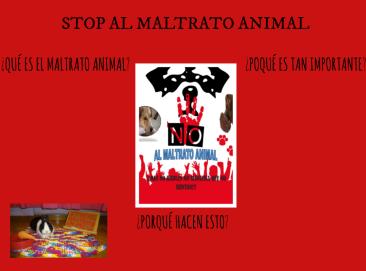 stop al maltrato animal mural