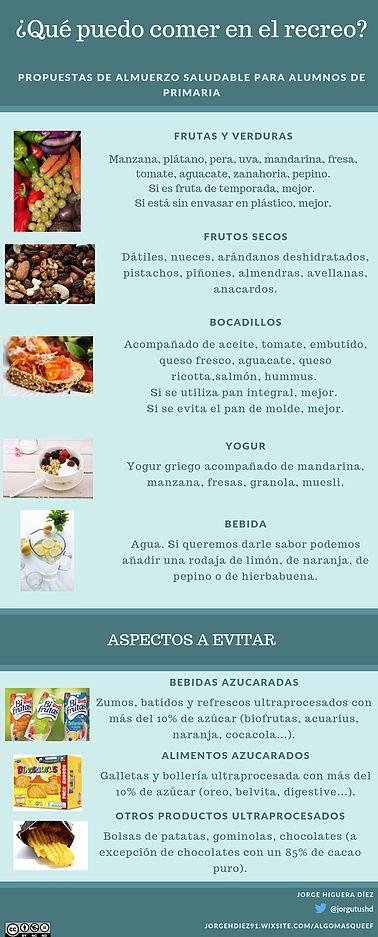 Infografía almuerzo saludable